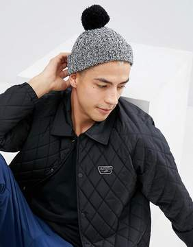Asos Mini Fisherman Bobble Beanie In Black Twist