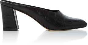 Maryam Nassir Zadeh Maryam Croc-Embossed Leather Mules