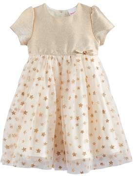 Nannette Toddler Girl Glitter Star Dress
