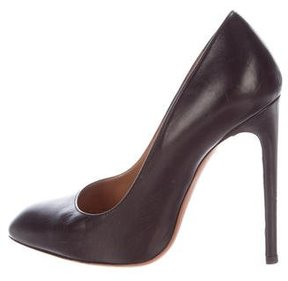 Alaia Pointed-Toe Leather Pumps