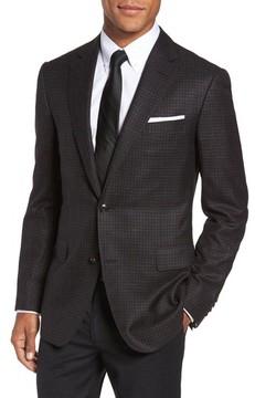 Pal Zileri Men's Classic Fit Check Wool Blend Sport Coat