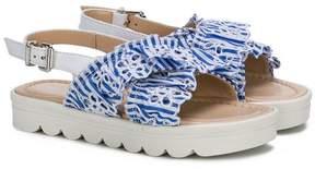 Ermanno Scervino striped open toe sandals
