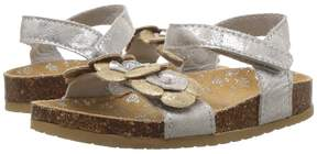 Baby Deer Distressed Sandal with Flowers (Infant/Toddler)