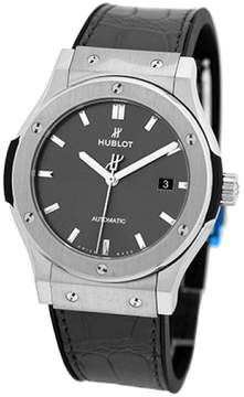 Hublot Classic Fusion 542.nx.7071.lr Stainless Steel & Leather Automatic 42mm Mens Watch