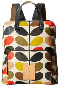 Orla Kiely Matt Laminated Classic Multi Stem Backpack Tote Tote Handbags