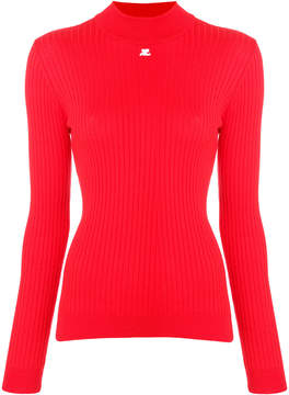 Courreges ribbed fitted sweater