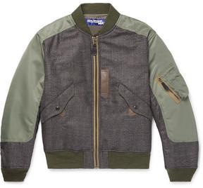 Junya Watanabe Wool-Panelled Shell Bomber Jacket
