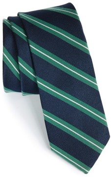 1901 Men's 'Morrison Stripe' Woven Silk & Cotton Tie