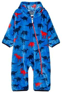 Hatley Blue Dino Print Fleece Bundler