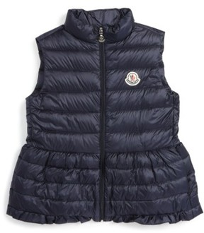 Moncler Girl's Cerame Water Resistant Down Vest