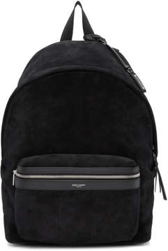 Saint Laurent Black Suede City Backpack