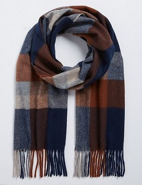 Marks and Spencer Exploded Checked Wool Woven Scarf