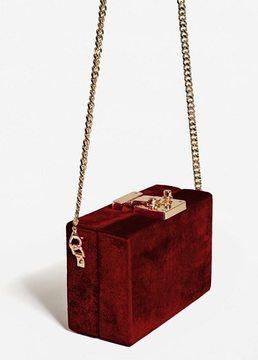MANGO Velvet coffer bag