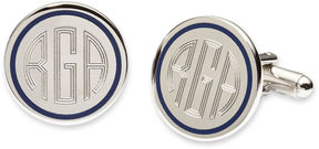 Asstd National Brand Blue Pinstripe Cuff Links