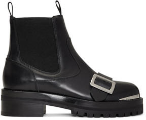 Alexander McQueen Black Lug Sole Chelsea Boots