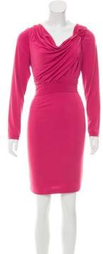David Meister Asymmetrical Knee-Length Dress