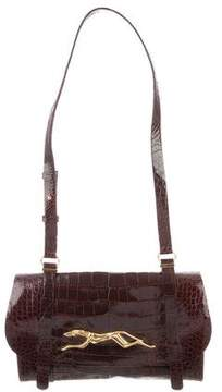 Trussardi Alligator Shoulder Bag