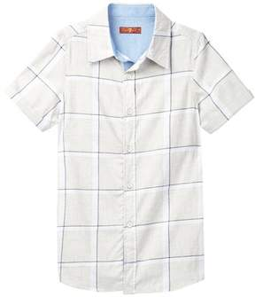 7 For All Mankind Short Sleeve Button-Up (Big Boys)