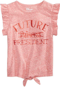 Epic Threads Little Girls Tie-Front Ruffle-Sleeve T-Shirt, Created for Macy's
