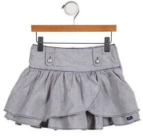 Lili Gaufrette Girls' Striped Mini Skirt