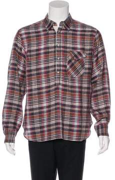 Billy Reid Plaid Pullover Woven Shirt