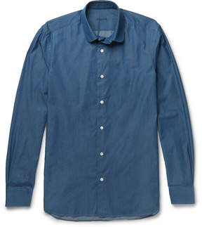 Caruso Slim-Fit Penny-Collar Cotton-Chambray Shirt
