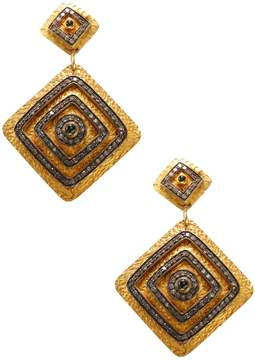 Artisan Women's Diamond Shape 14K Gold Earrings