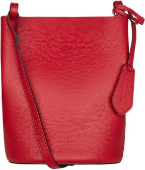 Burberry Small Lorne Bucket Bag - RED - STYLE