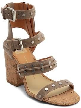 Dolce Vita Women's Eddie Suede High Block Heel Gladiator Sandals