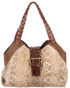 Carlos Falchi Fatto a Mano by Leather-Trimmed Python Tote