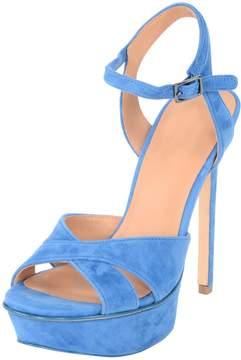 Halston Women's Woven Leather Platform Sandal