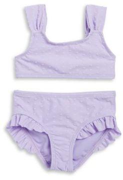 Hula Star Little Girls Textured Bikini Swimsuit Set