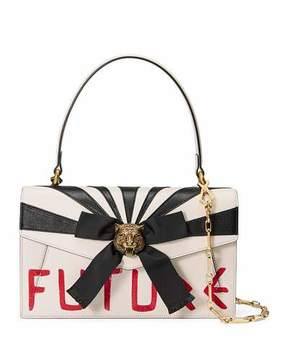 Gucci Osiride Future Bow Top-Handle Bag - WHITE/RED - STYLE