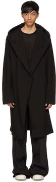 Rick Owens Black Spa Robe Cardigan