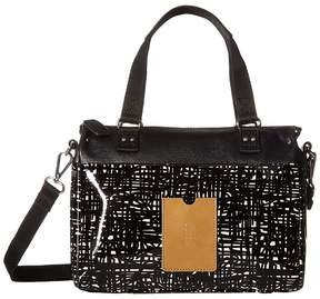 Orla Kiely Texture Stem Leather Small Zip Messenger Messenger Bags