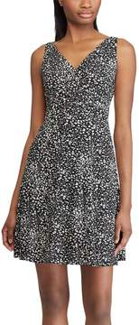 Chaps Petite Print Fit & Flare Dress