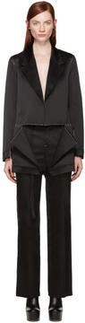 Calvin Klein Collection Black Satin Topstitched Gillin Jacket