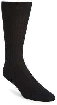 John W. Nordstrom Men's Ribbed Pima Cotton Crew Socks
