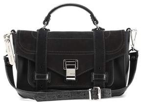 Proenza Schouler PS1+ Tiny leather and suede shoulder bag
