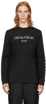 McQ Black Long Sleeve Usual-Usual T-Shirt