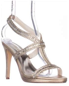 Caparros Givenchy Platform Dress Sandals, Gold Metalic.