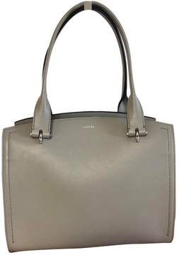 Lancel Grey Leather Handbag