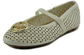 MICHAEL Michael Kors Faye Maisy Youth Round Toe Synthetic White Mary Janes.