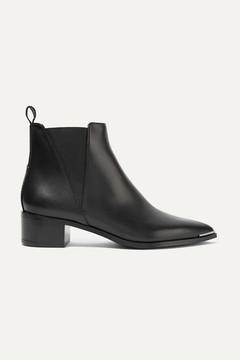 Acne Studios Jensen Leather Ankle Boots - Black