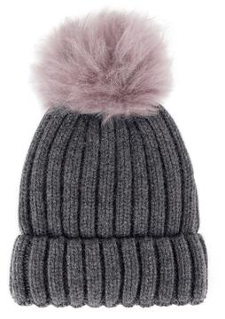Jocelyn Shearling Pom-Pom Hat