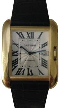 Cartier Tank Anglaise W5310004 Yellow Gold Mens Watch