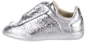 Maison Margiela Foiled Leather Sneakers
