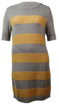 Tommy Hilfiger Women's Knit Crew Neck Sheath Dress (XL, Medium Grey Heather)
