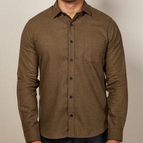 Blade + Blue Solid Dark Olive Flannel Shirt - Alejandro