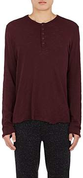 ATM Anthony Thomas Melillo MEN'S COTTON LONG-SLEEVE HENLEY